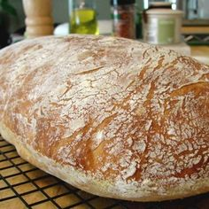 "Chef John's No-Knead Ciabatta | ""This bread is the perfect marriage of a crisp, light crust outside and a chewy yet tender inside. The no-knead part is just a bonus."" #recipe #best #bread"