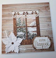 KvetaP / Vianočná pohľadnica Scrapbooks, Christmas Cards, Frame, Home Decor, Christmas E Cards, Picture Frame, Decoration Home, Room Decor, Xmas Cards