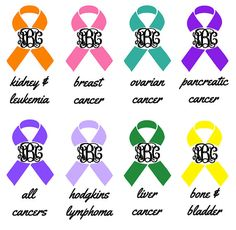 Hey, I found this really awesome Etsy listing at http://www.etsy.com/listing/126332942/cancer-awareness-ribbon-monogram-decal