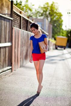 Back… to Los Angeles :: Spring Color-Blocking & Homemade Clutch : Wendy's Lookbook