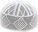 White Crochet Muslim Prayer Cap (604)