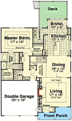 Three (or Four) Bedroom Craftsman - 92085VS | Architectural Designs - House Plans