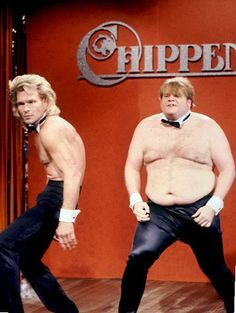 Patrick Swayze and Chris Farley. One of the best SNL skits... Ever.