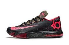 024c9e1f0b1 Nike KD VI Black Atomic Red Nike Shoes