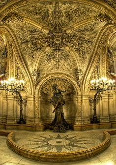 Below the Large Staircase, Opéra Garnier, Paris, France