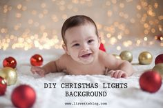Easy DIY Christmas Lights background