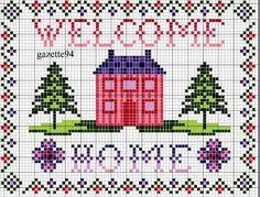 Schemi a punto croce gratuiti per tutti: Schemi punto croce facile-imparaticci casa dolce casa