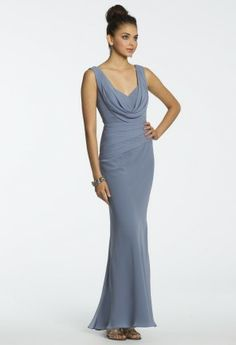Chiffon Bias Cowl Dress from Camille La Vie and Group USA #homecomingdresses #homecoming