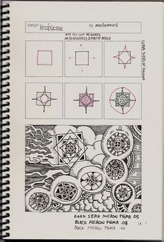 Zentangle Patterns Step by Step | TOrg Knoblesse by molossus, who says Life Imitates Doodles, via Flickr