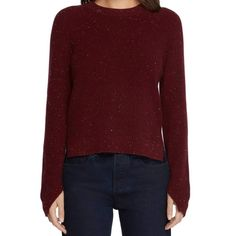 Valentina from Rag & Bone is 100% luxurious fine-gauge ribbed cashmere sweater. Styled with a smooth back panel. Side vents relax the hem and cuffs. Ribbed edges. Long sleeves. - 100% Cashmere. - Crop