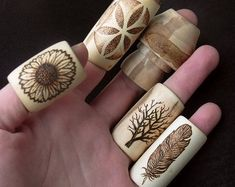 Wood dread beads: 5 customized, personalized unique bead for dreads/hair, handmade hippie natural wooden beads in different sizes and styles Dread Jewelry, Dreadlock Jewelry, Dread Beads, Hair Beads, Beaded Jewelry, Dreadlock Rasta, Dread Accessories, Hair Cuffs, Dread Hairstyles
