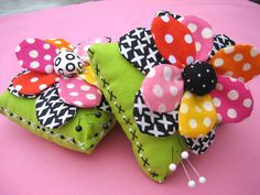 Hugs and Kisses Pincushions by mamacjt, via Flickr