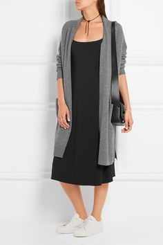Gray wool and cashmere-blend  Slips on 70% wool, 30% cashmere Dry clean Designer color: Heather Stone Imported