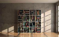 Square bookshelf books storage bookshelf squares organization bookshelves life hacks cool bookshelf ideas