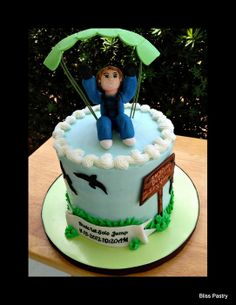 First Parachute Jump! - by BlissPastry @ CakesDecor.com - cake decorating website