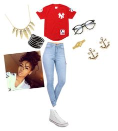 hang out wit friends by stayflawless13 on Polyvore featuring polyvore fashion style Supreme Converse Charlotte Russe Chan Luu Rolex Wildfox clothing