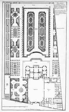 Hôtel de Madame la Duchesse du Maine - Plan général - Architecture françoise Tome1 Livre2 Ch2 Pl1.jpg