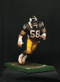 CUSTOM  MCFARLANE JACK LAMBERT - PITTSBURGH STEELERS - NFL  HALL OF FAME