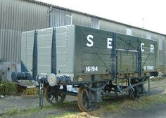 SECR 7 Plank Open Goods Wagon No 16194 - This is an example of a Southern Eastern and Chatham Railway diagram s2139/2 7-plank Open Goods Wagon. A prototype was built in 1915 and tested in service. 2120 more of these were built between 1919 and 1927. They had a 12 Ton capacity, a wheelbase of nine feet six inches and were fitted with self-contained buffers. One batch was built by Cravens in 1921, but most were built at Ashford Works by the SECR or the SR (from 1923 and to SR diagram 1355).
