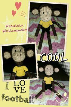 Affe *Fußball * fan * chimpanse * monkey * Boy * gehäkelt * crochet  https://www.facebook.com/fraeuleinwollwunder