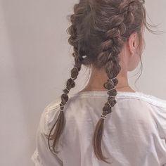 Hair ref idea Pretty Hairstyles, Braided Hairstyles, Inspo Cheveux, Hair Arrange, Hair Setting, Hair Reference, Grunge Hair, Looks Cool, Hair Dos