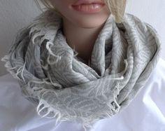 Schals - Großer Schal / Tuch in Grau - ein Designerstück von matteroftheheart bei DaWanda 59€
