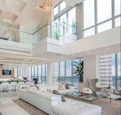 Luxury Homes Exterior, Luxury Modern Homes, Luxury Homes Dream Houses, Dream House Exterior, Dream Homes, Dream Home Design, Modern House Design, Apartamento Penthouse, Interior Design Career