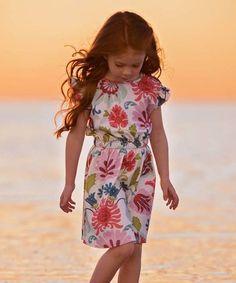 Another great find on #zulily! Pink Floral Laiya Dress - Kids & Tween #zulilyfinds