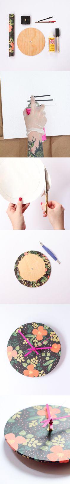 Reloj DIY de pared / http://www.henryhappened.com/