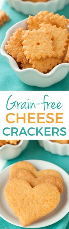 Gluten-free and Grain-free Cheese Crackers – just as delicious as the traditional kind!
