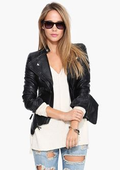 Stud Muffin Faux Leather Jacket in Black | Necessary Clothing