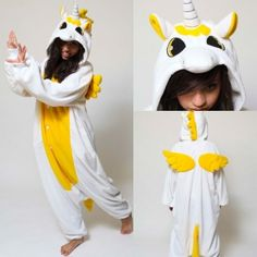 Cartoon Unicorn fleece pajamas for adult cosplay jumpsuits