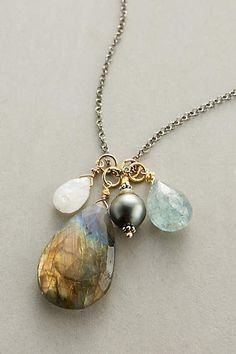 Black Pearl Pendant Necklace - anthropologie.com