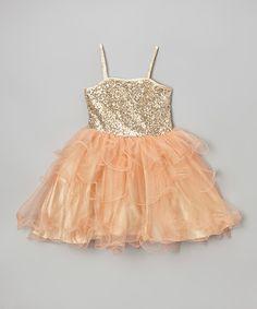 e38399aee Love this Cece  amp  Zoey Orange Sequin  amp  Ruffle Danielle Dress -  Toddler  amp