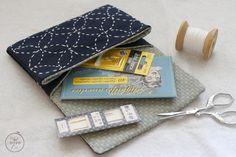 pochette pour ranger mes aiguilles - broderie sashiko