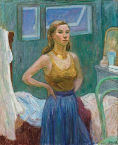 Självporträtt (Self Portrait) - Tove Jansson 1942 Finnish painter Illustrations, Illustration Art, Tove Jansson, Miss Moss, Digital Museum, Portraits, Collaborative Art, Cute Characters, Mode Inspiration