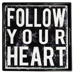 Follow Your Heart Square Tray
