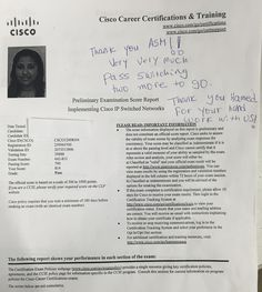 We are proud of our student who has passed Cisco CCNP Switching exam .#ASMChangelives