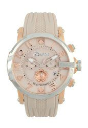 MULCO Unisex MW3-12239-113 Ilusion Roll Analog Display Swiss Quartz Beige Watch