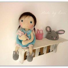 #crochet #crochetdoll #amigurumi #amigurumidill #bunnydoll #bunnylove #bunny #madebyrusi #rusidolls