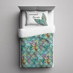 Mermaid Duvet Cover Comforter Cover Twin Queen by HLBhomedesigns