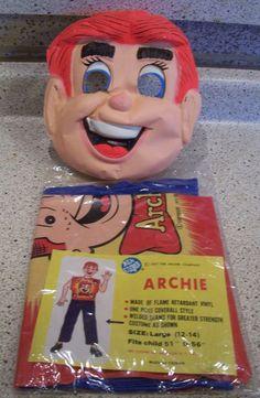 Archie Halloween Costume 1977 Ben Cooper Kids