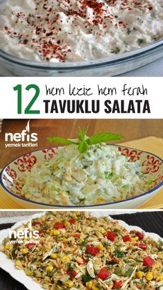 12 Değişik Tavuklu Salata Tarifi – Kolay, Doyurucu ve Çok Lezzetli! – Nefis… – Salata meze kanepe tarifleri – Las recetas más prácticas y fáciles Easy Appetizer Recipes, Easy Salad Recipes, Chicken Salad Recipes, Easy Salads, Easy Meals, Delicious Recipes, Salad Menu, Salad Dishes, Cottage Cheese Salad