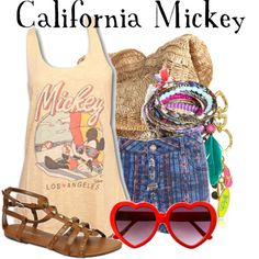 """""""California Mickey"""" by agust20 on Polyvore"""