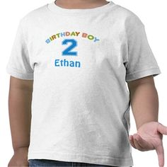 Personalized Birthday Boy (2 years old) Tee Shirts #Personalized #tshirt