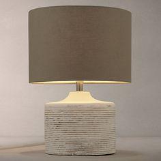 Buy John Lewis Ira Table Lamp, White Wash Online at johnlewis.com