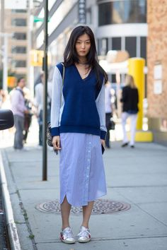 #blue #skirt #layers