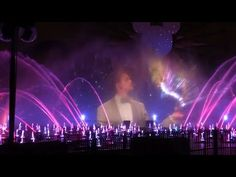 World of Color premiere event with talking Mickey Mouse at Disney's California Adventure - YouTube