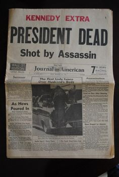 1963 NY American Journal News Kennedy Assassination    sixth grade...we were sent home.