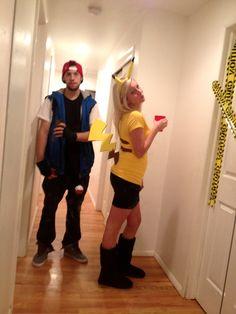 ash and pikachu costume